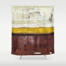 Timber Maroon Gold Abstract Art Painting Shower Curtain