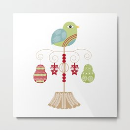 Christmas Patridge Metal Print