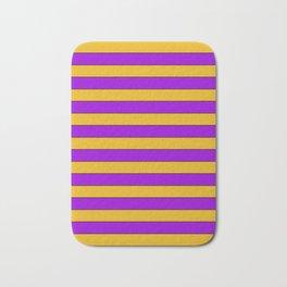 Yellow, purple stripes Bath Mat