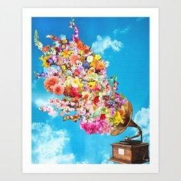 Tunes in Bloom Art Print