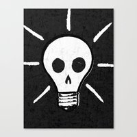 bad idea Canvas Prints featuring Bad Idea by ScottLaserowPosters