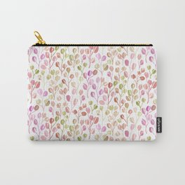 Eucalyptus Sprigs | Pink & Green Carry-All Pouch