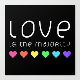 Love Is The Majority (Color) Canvas Print