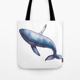 Humpback Whale Breech Watercolor Tote Bag