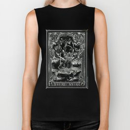 THE DEVIL of Tarot Cats Biker Tank