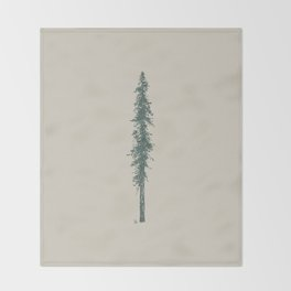 Love in the forest - tan Throw Blanket