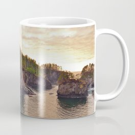 Sunset at Cape Flattery, Washington, Olympic Peninsula, Monolith, Pacific Ocean, Islands Coffee Mug