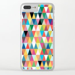 Multicolor pattern Clear iPhone Case