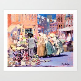 George Benjamin Luks - Spring Morning, Houston and Division Streets, New York Art Print