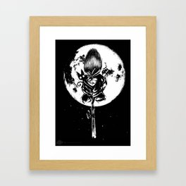 A Noir Witch Framed Art Print
