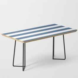 Blue and White Stripes Coffee Table