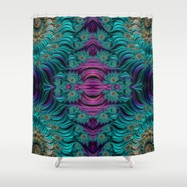 Aqua Swirl 2 Shower Curtain