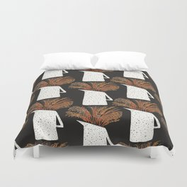 Autumn Still Life with Pampas Grass Duvet Cover