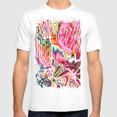 Sunk into a Candy Cave MEDIUM Mens Fitted Tee White