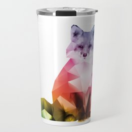 Sitting Rainbow Fox Travel Mug
