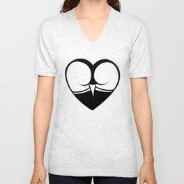 Heart ass Unisex V-Neck