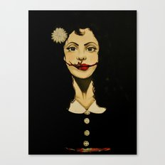 Black Dahlia Canvas Print