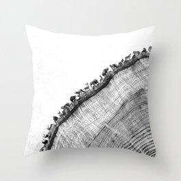 Tree Ring Print Throw Pillow