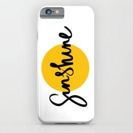 Sunshine   Yellow Circle iPhone Case