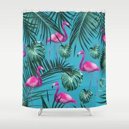 Tropical Flamingo Pattern #4 #tropical #decor #art #society6 Shower Curtain