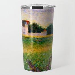 Landscape of the Ile de France Post-Impressionism landscape Oil Painting Countryside Cottages Farm Travel Mug