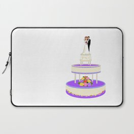 A Wedding Cake with Roses in Primary Colors Laptop Sleeve
