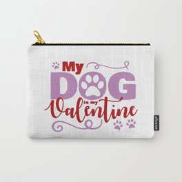 Dog Valentine Carry-All Pouch
