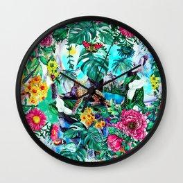 Tropical Jungle II Wall Clock