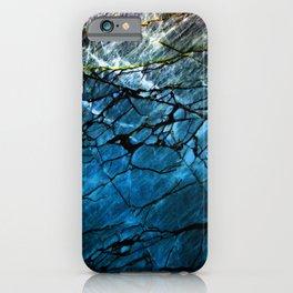 Blue Labradorite Crystal iPhone Case