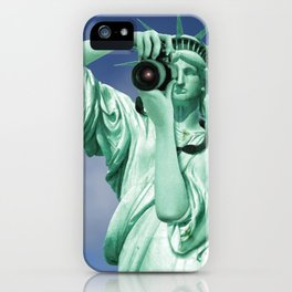 Say cheese for Liberty! iPhone Case
