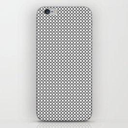 Quatrefoil Black and White iPhone Skin
