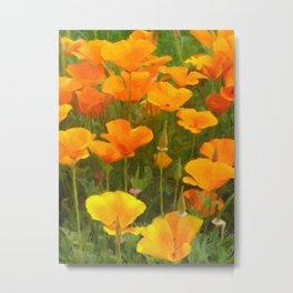 California Poppies Art Metal Print