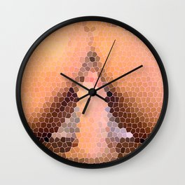 Stained Ass Wall Clock