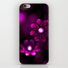 Electric Flowers (Purple) iPhone & iPod Skin