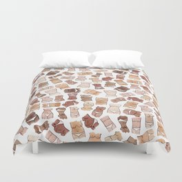 Hello, girls! // Boobs and butts Duvet Cover