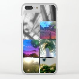 Kaleidoscope rainbow tinted glasses Clear iPhone Case
