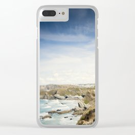 Tilt and Shift Views along the Newquay Coastline Clear iPhone Case