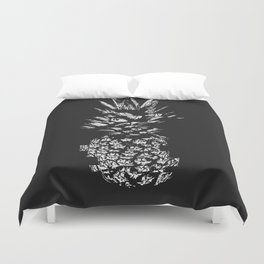 Pineapple with Glitch Duvet Cover