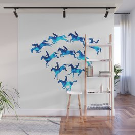 Connected to Showjumping (Blue) Wall Mural