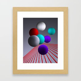 converging lines and balls -2- Framed Art Print
