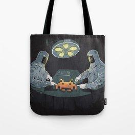 Alien Autopsy Tote Bag