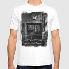 Old Factory 1 Mens Fitted Tee MEDIUM White
