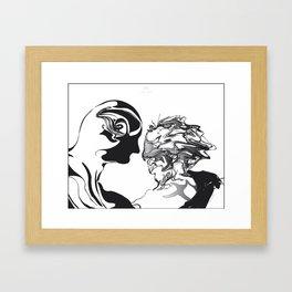 Secret 1.Black on white background.(ZOOM) Framed Art Print