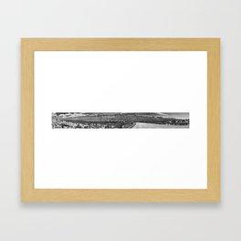 Hitting The Wall Framed Art Print