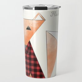 Flannel Fox Travel Mug