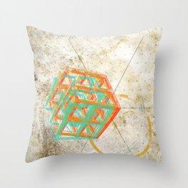 Geometric Grunge One Throw Pillow