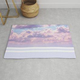 Dreamy Pastel Sky on Violet Rug