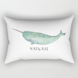 Cute Narwhal Rectangular Pillow