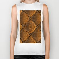 orange pattern Biker Tanks featuring Power Pattern 04 orange by MehrFarbeimLeben