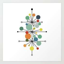 Atomic Age Nuclear Abstract Motif — Mid Century Modern Pattern Art Print